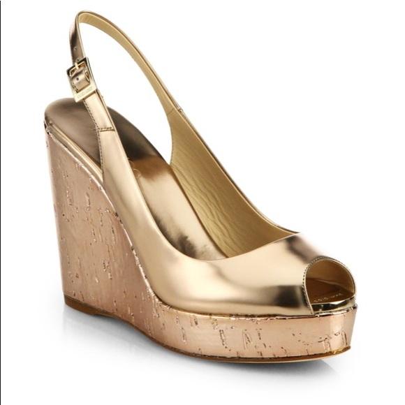Shoes | Jimmy Choo Gold Wedges | Poshmark